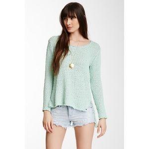 O'Neill Carmen Mint High-Low Sweater Size Small